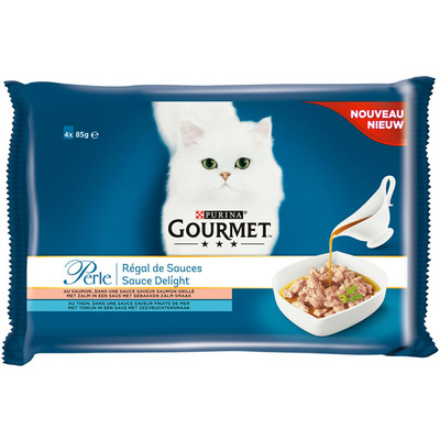 Gourmet Perle sauce delight 4-pack o.a. met zalm
