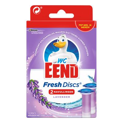 WC Eend Fresh discs navul duo lavendel