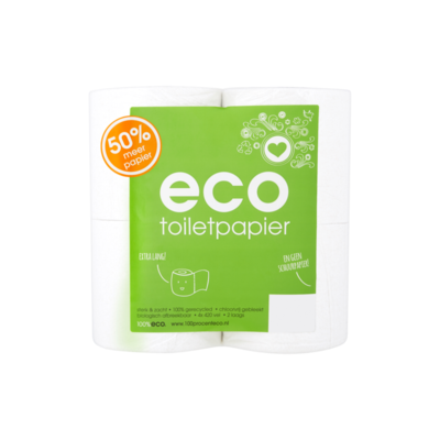 Eco Toiletpapier 2 Laags 4 Rollen