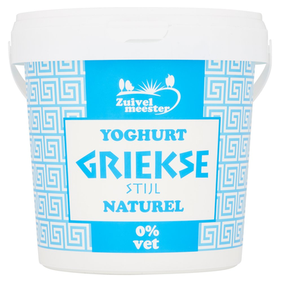 Zuivelmeester Griekse Stijl Yoghurt 0% 1 kg