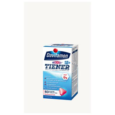 Davitamon Multiboost kauwvitamines aardbei 12+