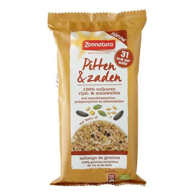 Zonnatura Pitten & zaden rijst- & maiswafel bio