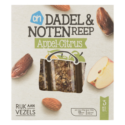 AH Dadel & notenreep appel-citrus