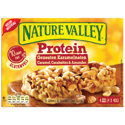 Nature Valley Protein gezouten karamelnoten
