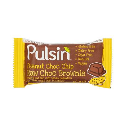 Pulsin Peanut choco chip raw brownie