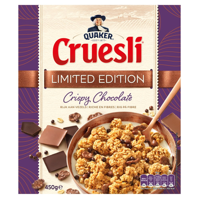 Quaker Cruesli Granen Crispy Chocolate Limited Edition 450g