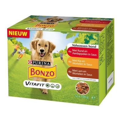 Bonzo Adult Hondenvoer Wortel en Lam Multipak