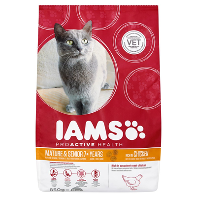 Iams Proactive Health Mature & Senior 7+ Years Rich in Chicken 850 g