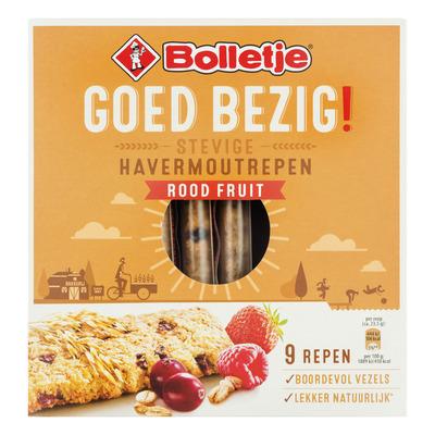 Bolletje Goed Bezig Havermoutrepen rood fruit