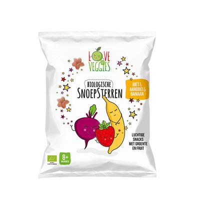 Love my veggies Snoepsterren biet-aardbei-banaan 8mnd
