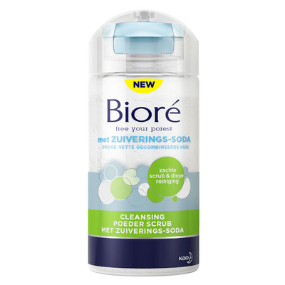 Bioré Clean poeder scrub met zuiverings soda