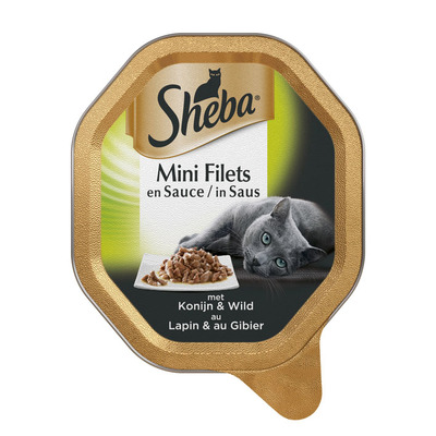 Sheba Mini filets saus konijn & wild