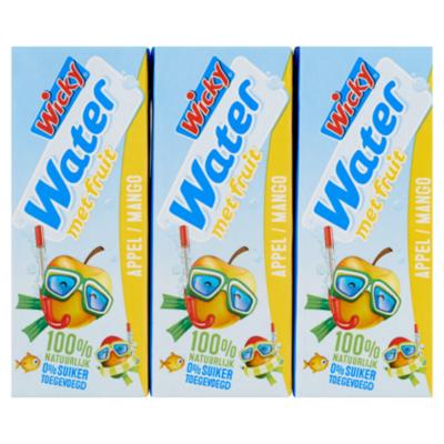 Wicky Water appel mango 6x200ml