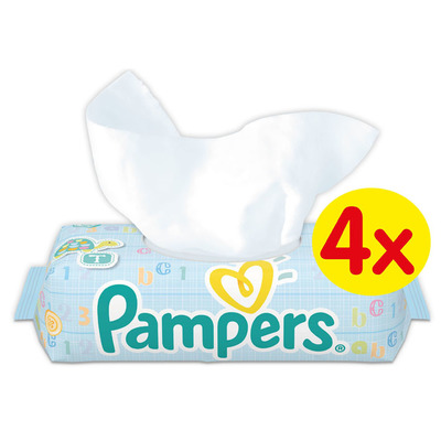 Pampers Wipes fresh clean 4 pack