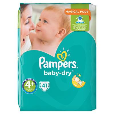 Pampers Baby dry Maxi+ maat 4+ voordeelpak