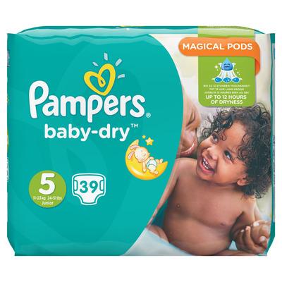 Pampers Baby dry Junior maat 5 voordeelpak