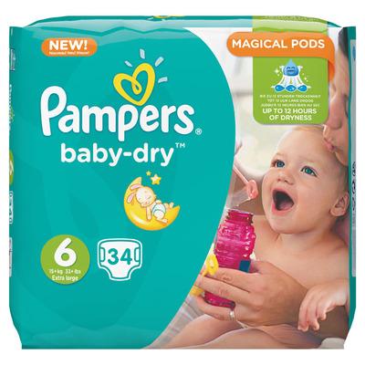 Pampers Baby dry XL maat 6 voordeelpak