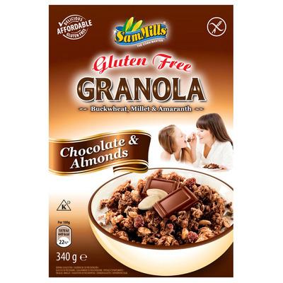 SamMills Granola chocolade-amandel glutenvrij