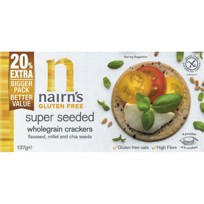 Nairn's Super seeded wholegrain cracker glutenvr