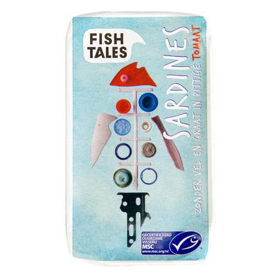 Fish Tales Sardines zonder vel-graat tomaat msc