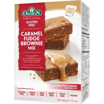 Orgran Caramel fudge brownie mix glutenvrij