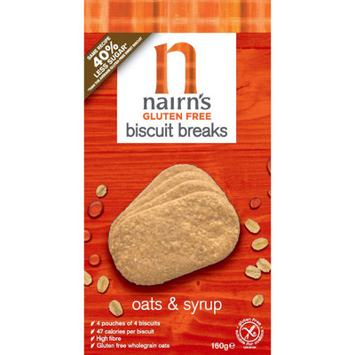 Nairn's Biscuit breaks oats syrup glutenvrij