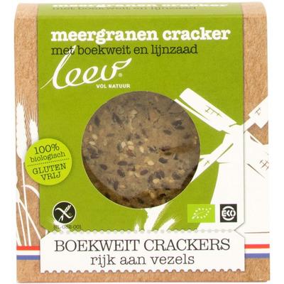 Leev Crackers boekweit bio glutenvrij