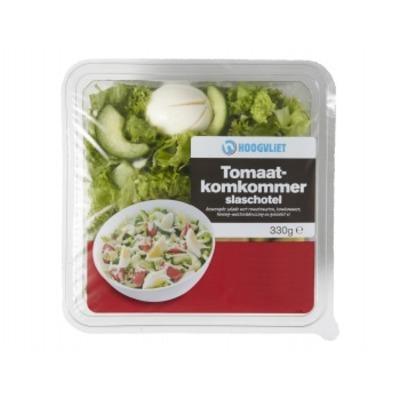 Hoogvliet Slaschotel tomaat komkommer