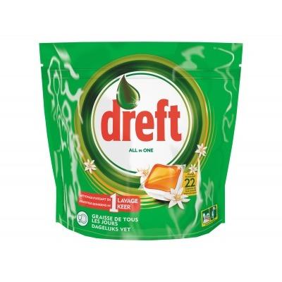 Dreft Clean & fresh orange vaatwastabletten