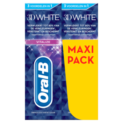Oral-B 3D White vitalize duopak