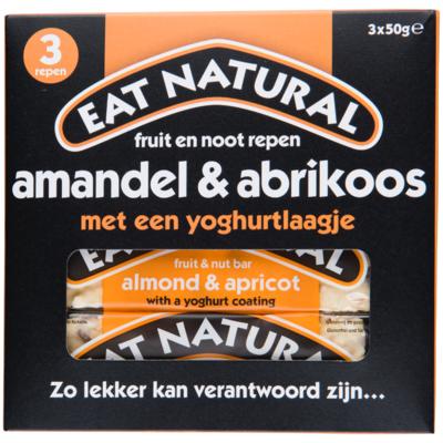 Eat Natural Amandel & abrikoos met een yoghurtlaagje 3 stuks