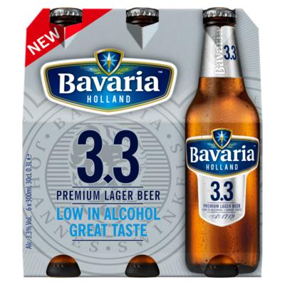 Bavaria 3.3 Low Alcohol Bier Fles 6 x 30 cl