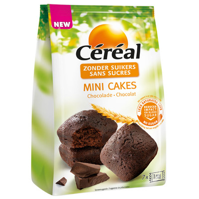 Cereal Mini cake chocolade suikerbewust