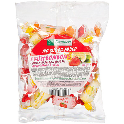 Damhert Fruitbonb citr appelsien aardb suikerbew