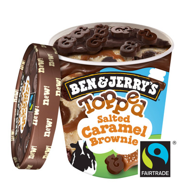 Ben & Jerry's IJs Topped salted caramel brownie