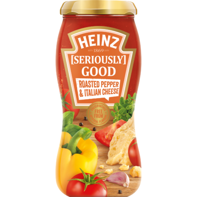 Heinz Pastasaus roasted pepper & Italian cheese