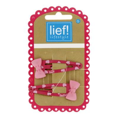 Lief Clic roze met strikjes