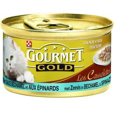 Gourmet Gold Luxe Mix Van Zeevis Met Saus Van Spinazie
