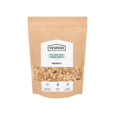 Yespers Feel Good Fruit Cashew & Wortel Granola