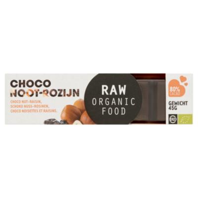 Raw Organic Food Choco Reep Noot/Rozijn RAW Bio
