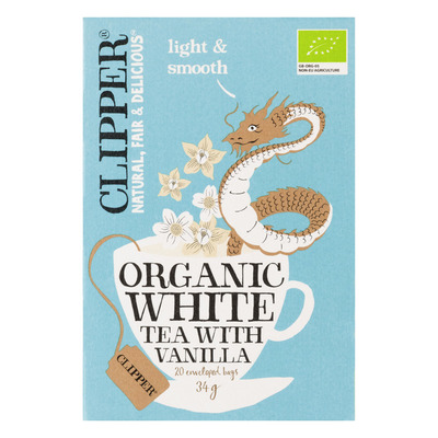 Clipper Organic white tea vanilla 1-kops