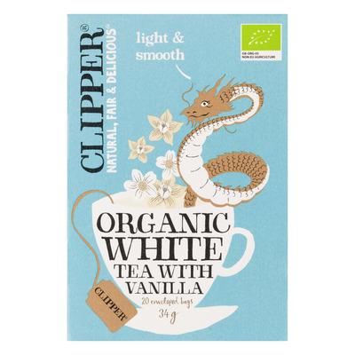 Clipper Organic white tea vanilla 1-kops