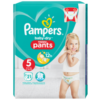 Pampers Baby dry pants junior carry pack