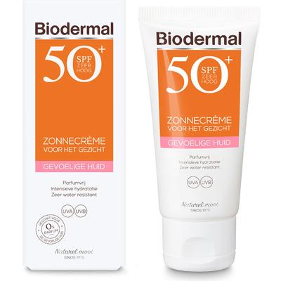 Biodermal Zonnecreme gevoelige huid gezicht SPF50+