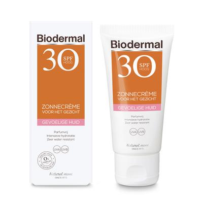 Biodermal gevoelige huid zonnecreme gezicht SPF 30