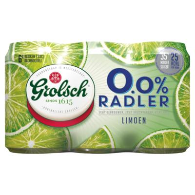 Grolsch Radler limoen 0,0% 6 x 33cl