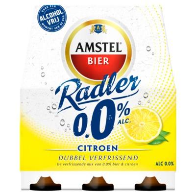 Amstel Radler citroen 0.0% fles 6 x 30 cl.