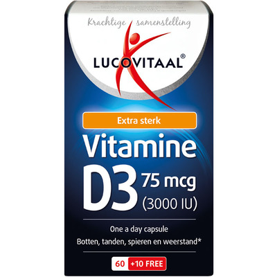Lucovitaal Vitamine D3 forte 75 mcg One a Day