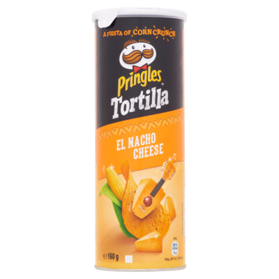 Pringles Tortilla Nacho Cheese 160 g