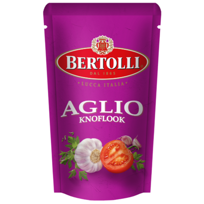 Bertolli Pastasaus in zak knoflook